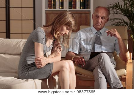 Therapist Taking Care About Patient