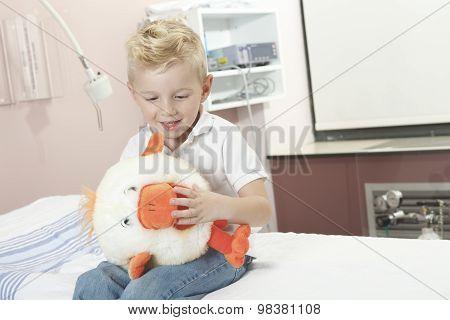 Boy Relaxing in pediatric hospital