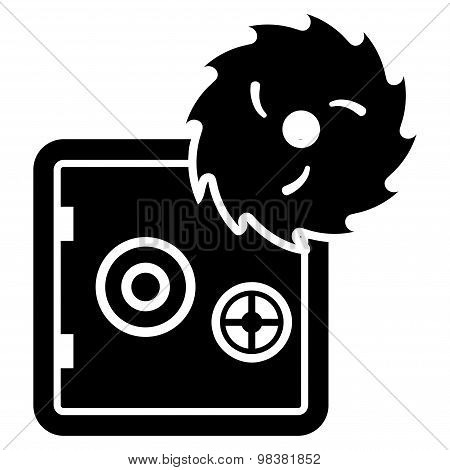 Hacking Theft Flat Icon From Business Bicolor Set