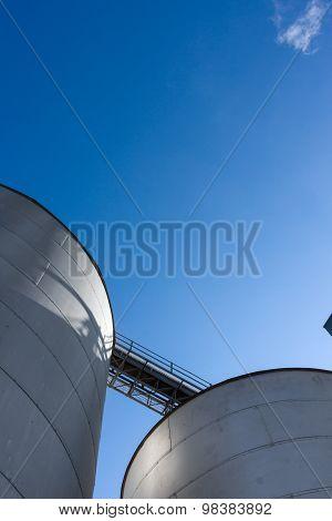 Silos On Blue Sky 6