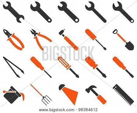 Equipment And Tools Flat Icon Collection