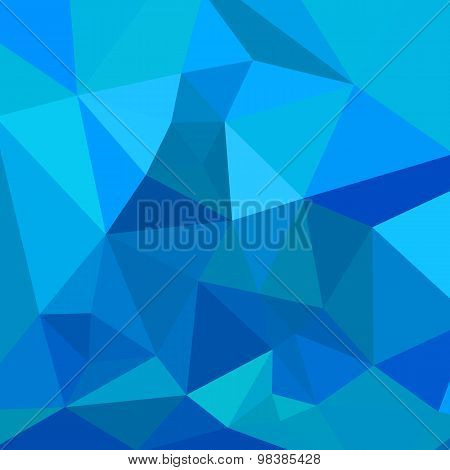 Moonstone Blue Abstract Low Polygon Background