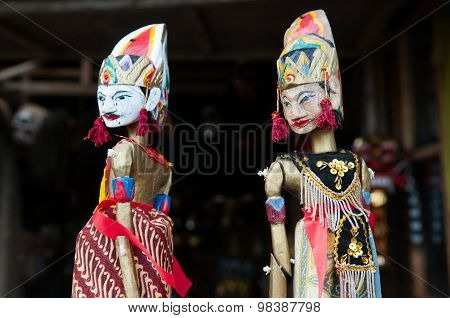 Wooden traditional handicraft puppets