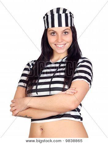 Sexy Prisoner Smiling