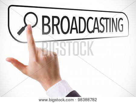 Broadcasting written in search bar on virtual screen