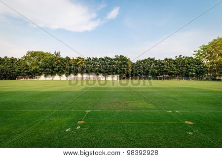 Football Or Soccer Field In The School