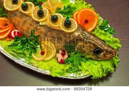zander fish baked