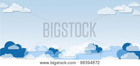 Clouds, pattern background