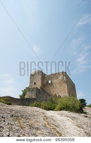 Ruin of old castle in Vaison-la-Romaine