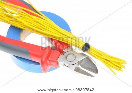 Tools for electricians for electrical installation