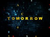 Постер, плакат: Time concept: Tomorrow on Digital background