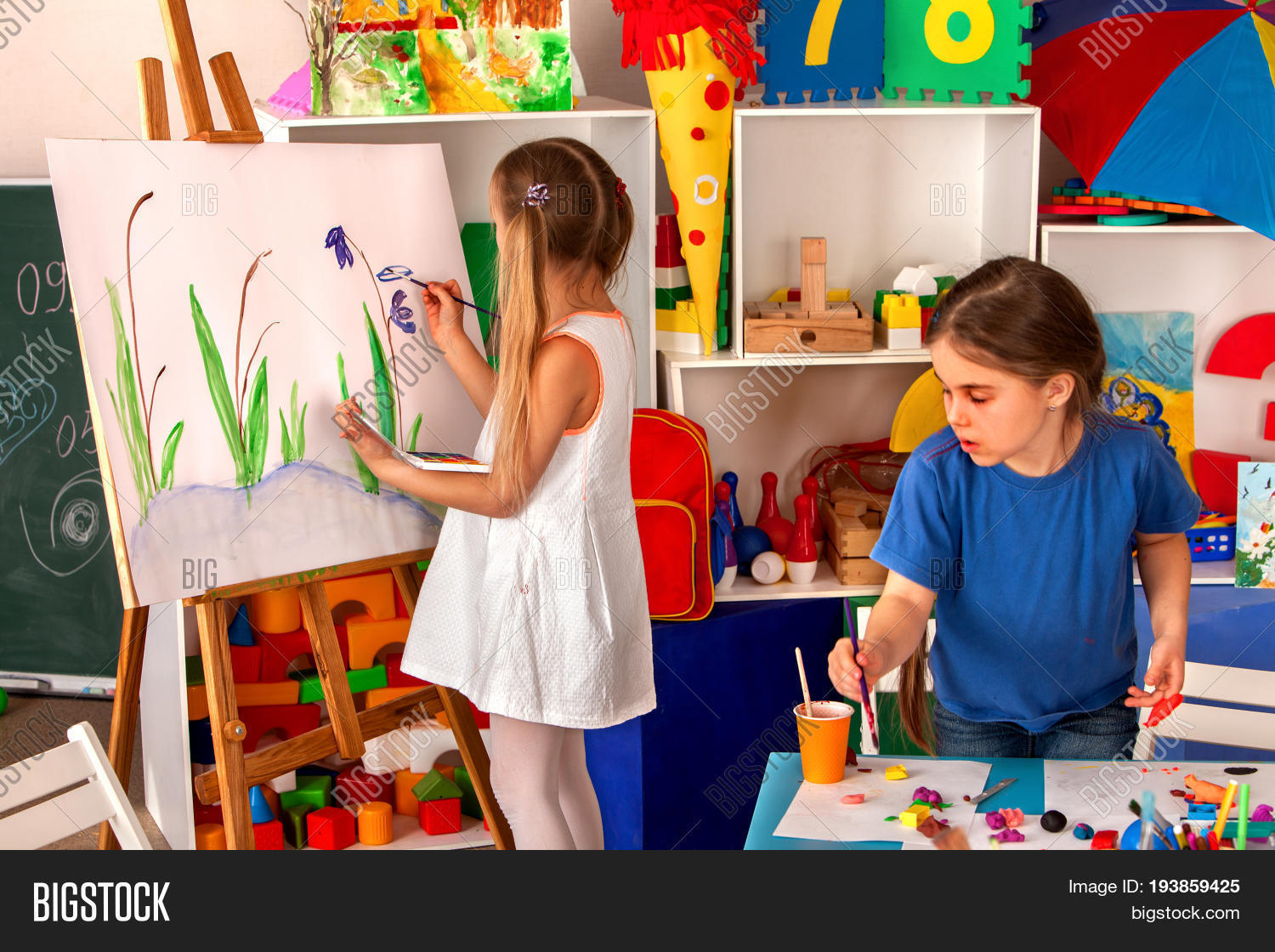 children painting finger on easel image u0026 photo bigstock
