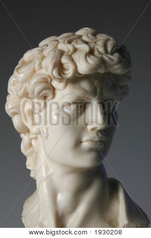 Bust Of David Replica In Marble