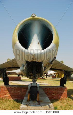 Close Up Of Airplane Intake