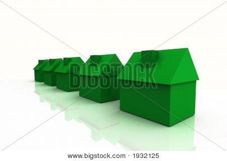 3D Render Real Estate Concept