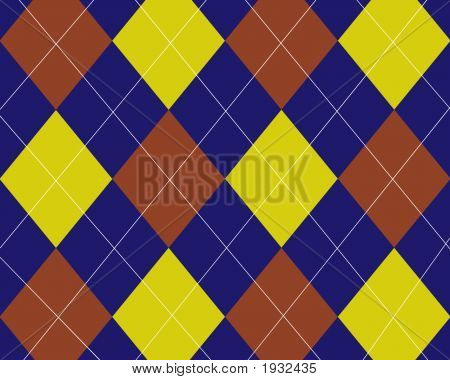 Blue Red Yellow Argyle Background