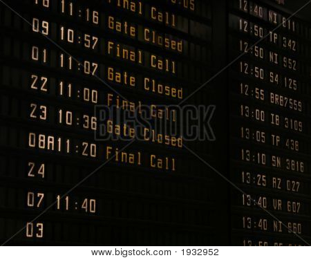 Airport Information Panel