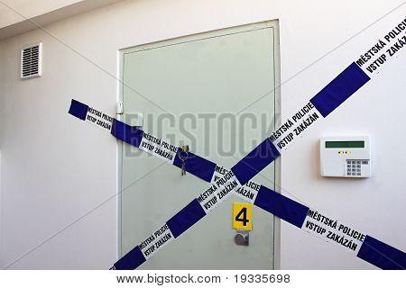 crime scene - sealed vault door