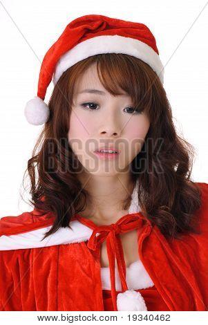 Sad Christmas Girl