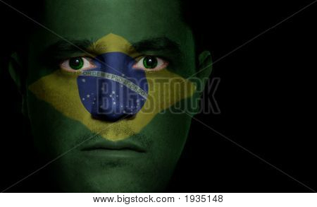 Brazilian Flag - Male Face
