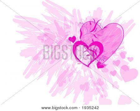 Pink Hearts Splatter