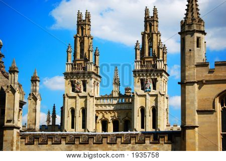 All Souls College Towers, Oxford University