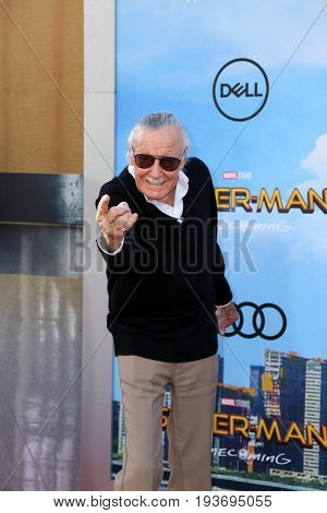 "LOS ANGELES - JUN 28:  Stan Lee  at the ""Spider-Man: Homecoming"" at the TCL Chinese Theatre on June 28, 2017 in Los Angeles, CA"