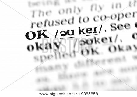 Ok (the Dictionary Project)