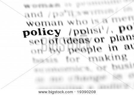 Policy (the Dictionary Project)