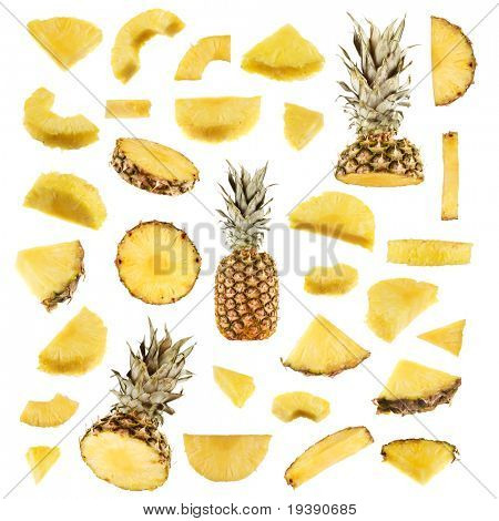 Isolated pineapple collection