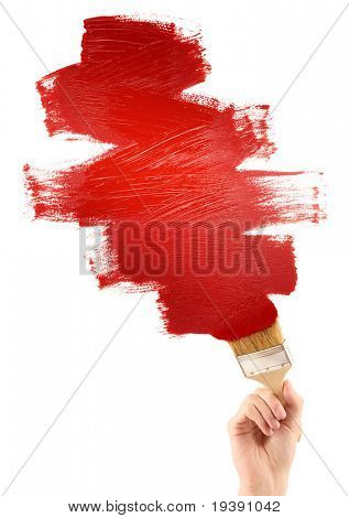 Painting red shape