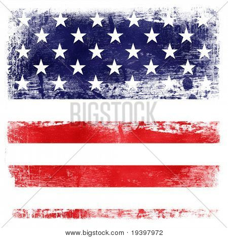 USA flag theme background isolated on white