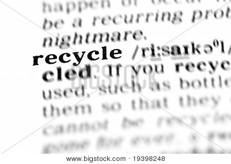 Recycle  (the Dictionary Project)
