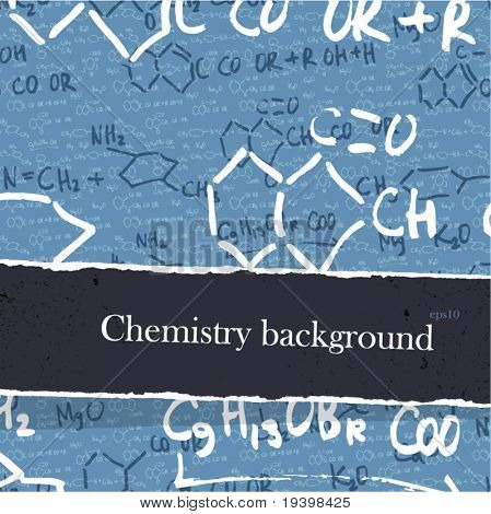 Chemistry backgrounds set with copyspace. Easy editable by layers, eps10.