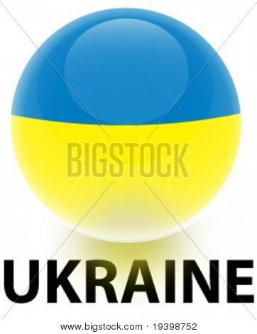 Orb Ukraine Flag