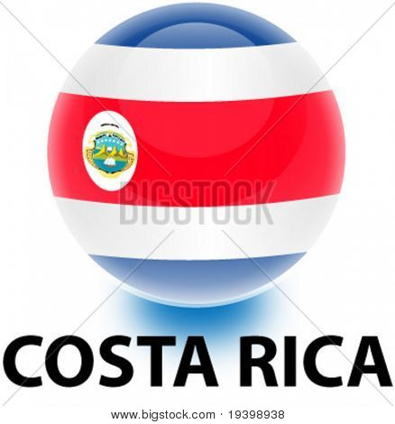 Orb Costa Rica Flag
