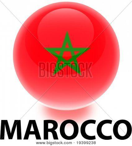 Flag Marocco Orb