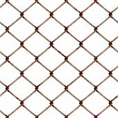 stock photo of chain link fence  - Illustration of rusty industrial chain link fencing material - JPG