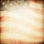 stock photo of american flags  - American flag grunge background - JPG