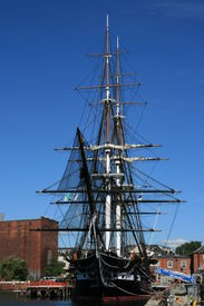 picture of uss constitution  - A view of the USS Constitution in Boston Massachusetts - JPG