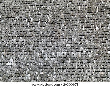 row of old wood shingles