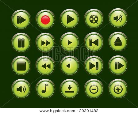 player button set.