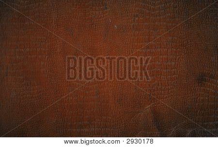 Brown Faux Crocodile Leather