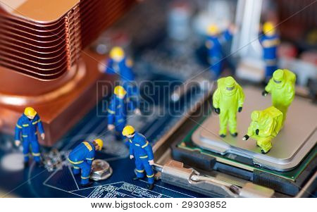 Computer Reparatur Konzept