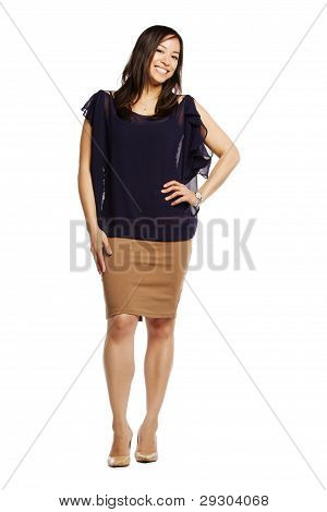 Asian Female Model With Hand On Hip