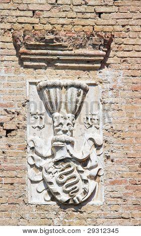 Detail einer Burg.
