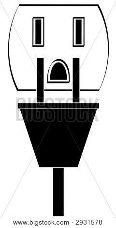 Enchufe de la toma de corriente eléctrica