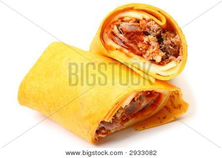 Pulled Pork And Provolone Wrap