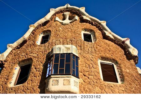 Park Guell Pavilion, Barcelona, Spain.
