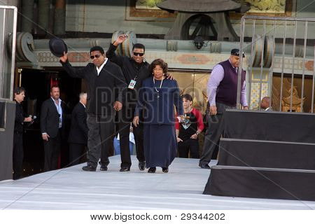 LOS ANGELES - JAN 26:  Tito, Jackie, & Katherine Jackson at the Michael Jackson Immortalized  Handprint and Footprint Ceremony at Graumans Chinese Theater on January 26, 2012 in Los Angeles, CA